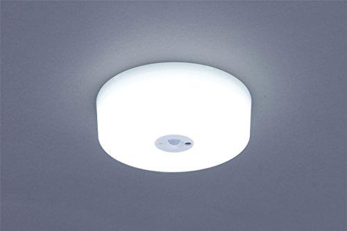 シーリングライト LED照明 人を感知して自動でON/OFF LED小型シーリングライト センサー付...
