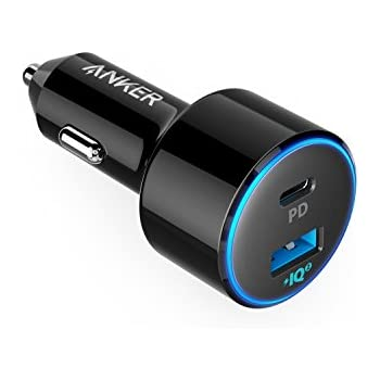 Anker PowerDrive Speed+ 2-1 PD & 1 PowerIQ 2.0(Power Delivery&PowerIQ 2.0対応 2ポートカーチャージャー 48W) iPhone/iPad/Galaxy/Xperia その他Android各種対応
