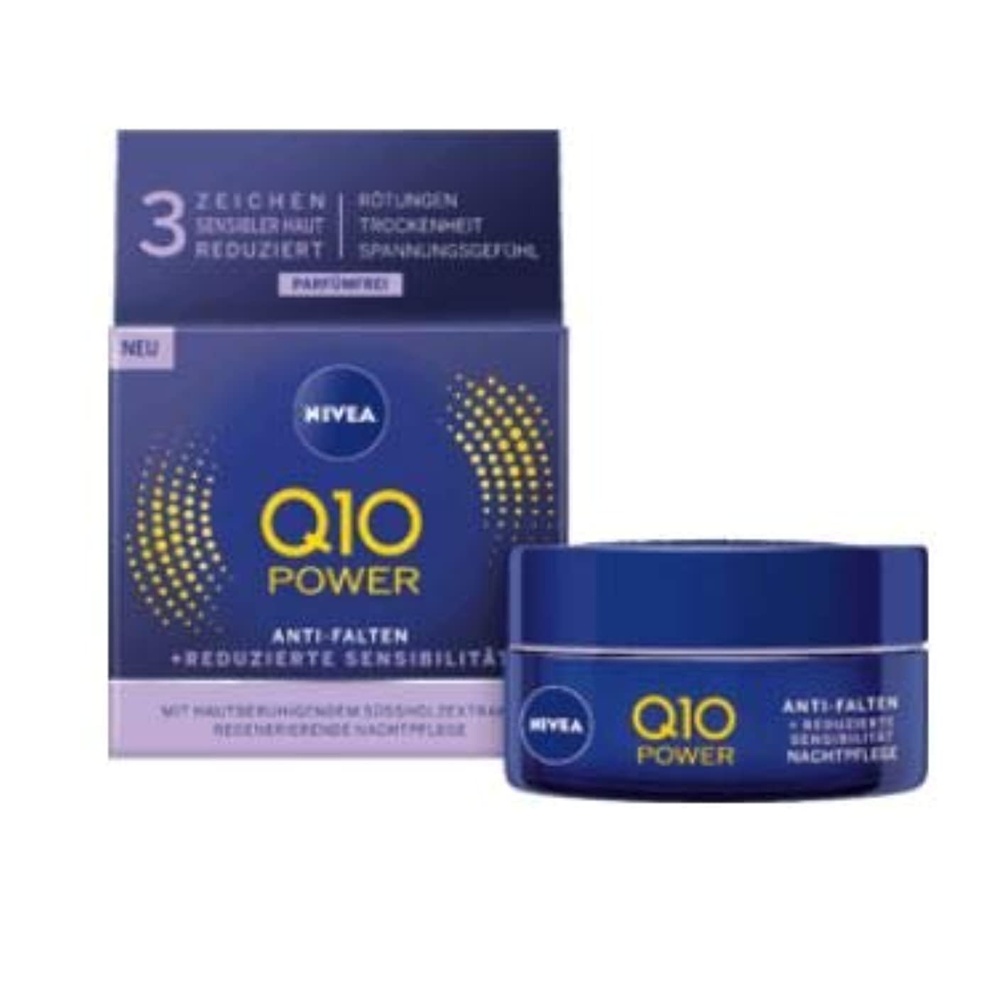 拒絶するマッサージメナジェリーニベア Nivea Q10 パワー ナイトクリーム 敏感肌用 50ml [並行輸入品]