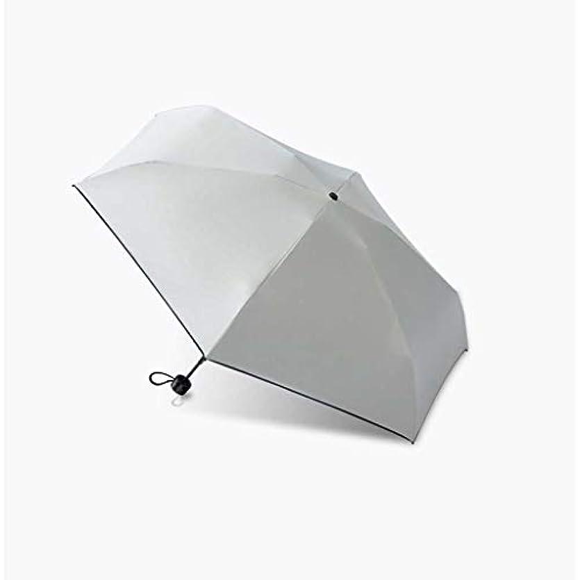 エキスパートエトナ山販売員ZEZHOU ミニカプセル傘、防風性と防雨性日焼け止めUVプロテクション50折りたたみ傘UPF50 + (色 : Milk tea white)