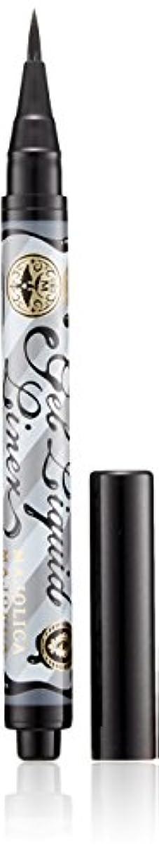 コック条約れるマジョリカ マジョルカ ジェルリキッドライナー BK999 漆黒 (ウォータープルーフ) 1.4mL