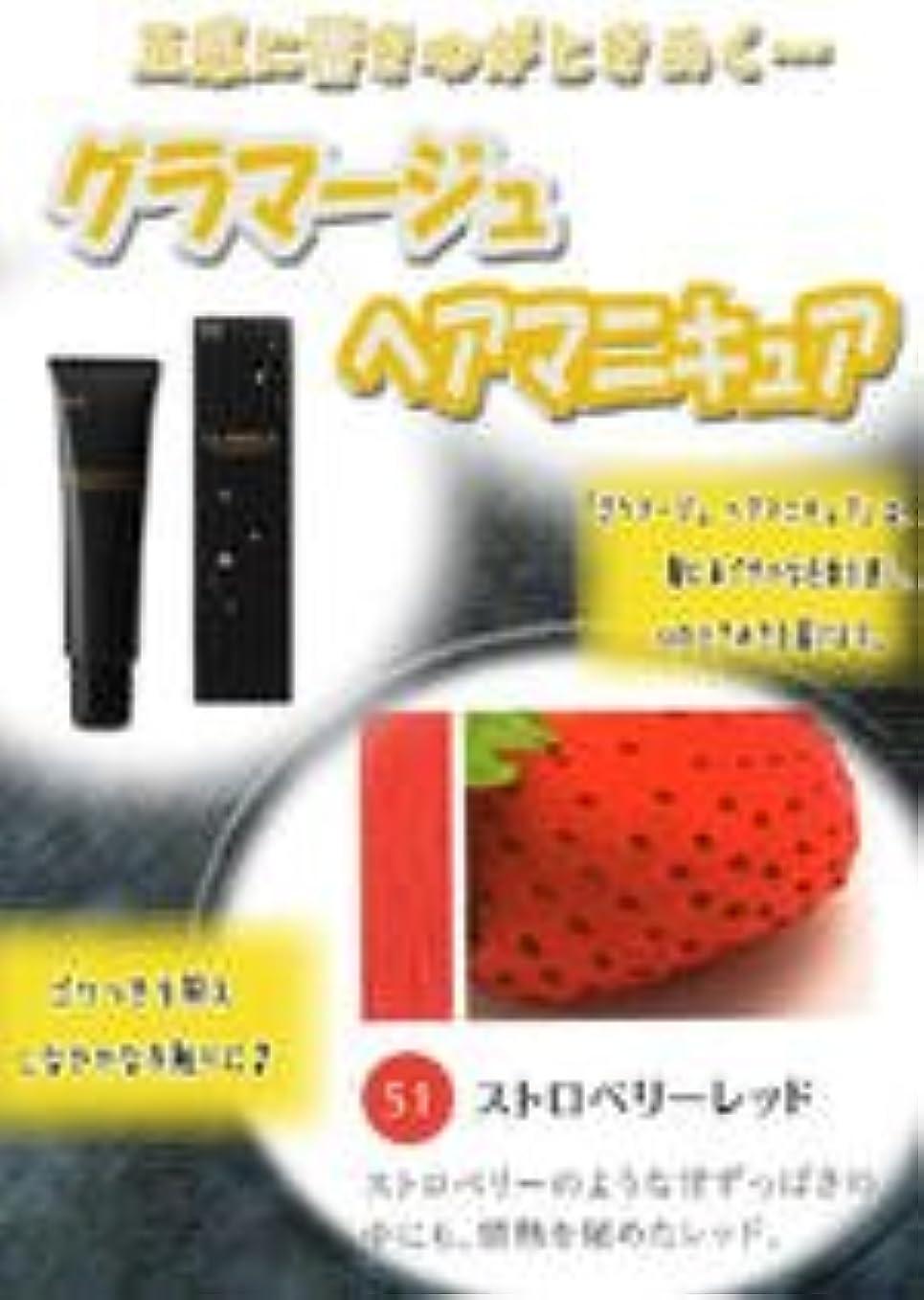 HOYU ホーユー グラマージュ ヘアマニキュア 51 ストロベリーレッド 150g 【ビビッド系】