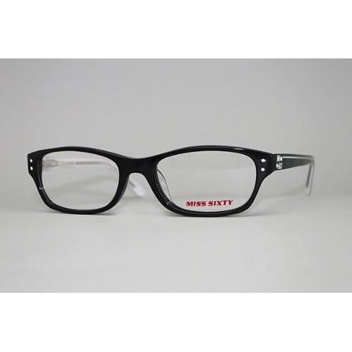 (ミスシックスティ) Miss Sixty ブラック×ホワイトパイピング メガネフレーム 眼鏡 めがね MX-0443-001 [並行輸入品]