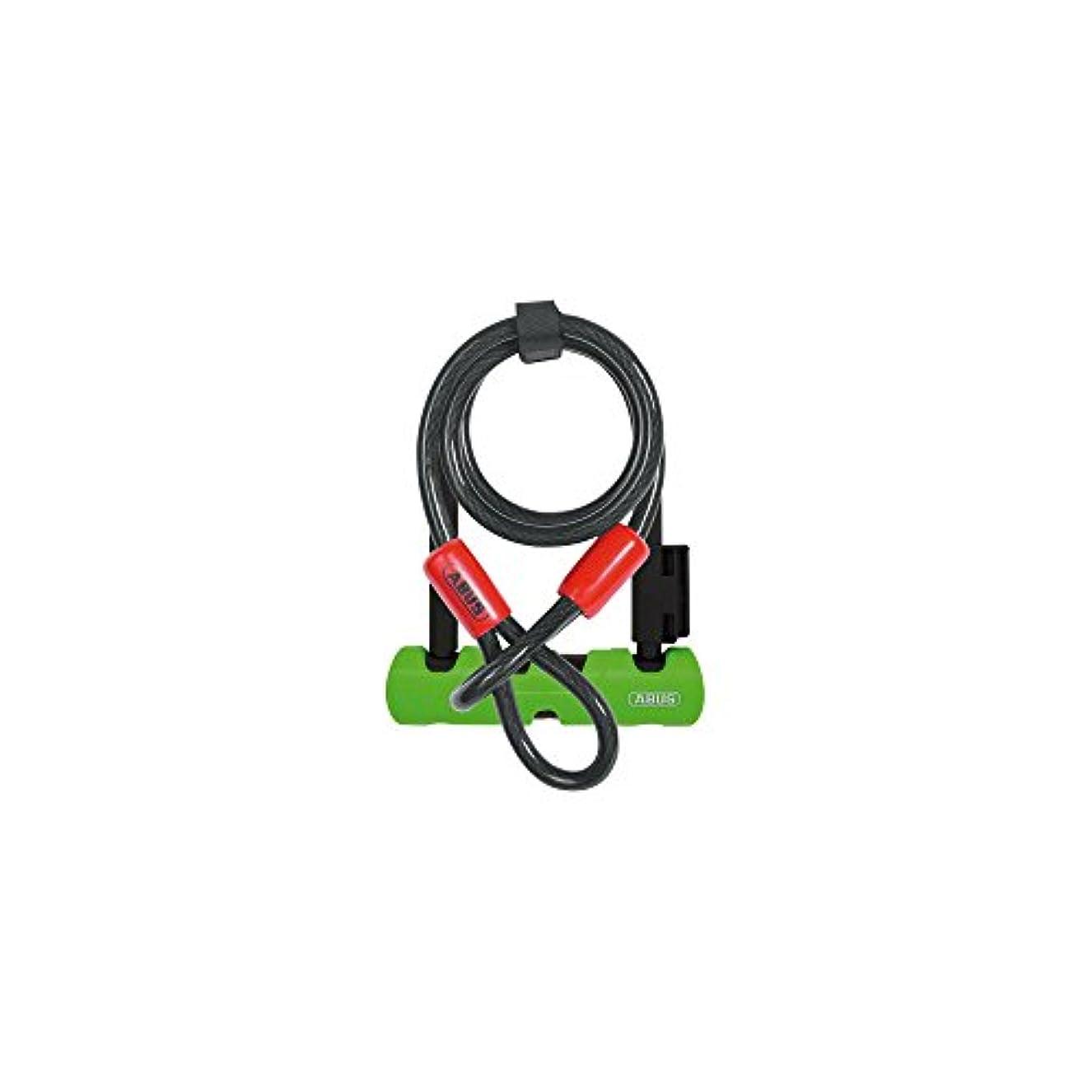 ビルダーつぼみ通りABUS 鍵付き U-Lock Ultra Mini 410 Plus コブラケーブル 5.5インチ シャックル ブラック