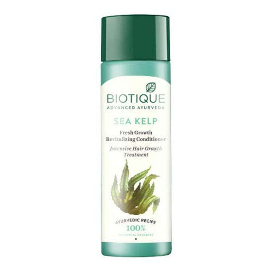 下線ペダル身元Biotique Bio Sea Kelp Fresh Growth Revitalizing Conditioner (120 ml) hair Growth Biotiqueバイオシーケルプフレッシュグロースリジュライジングコンディショナー育毛