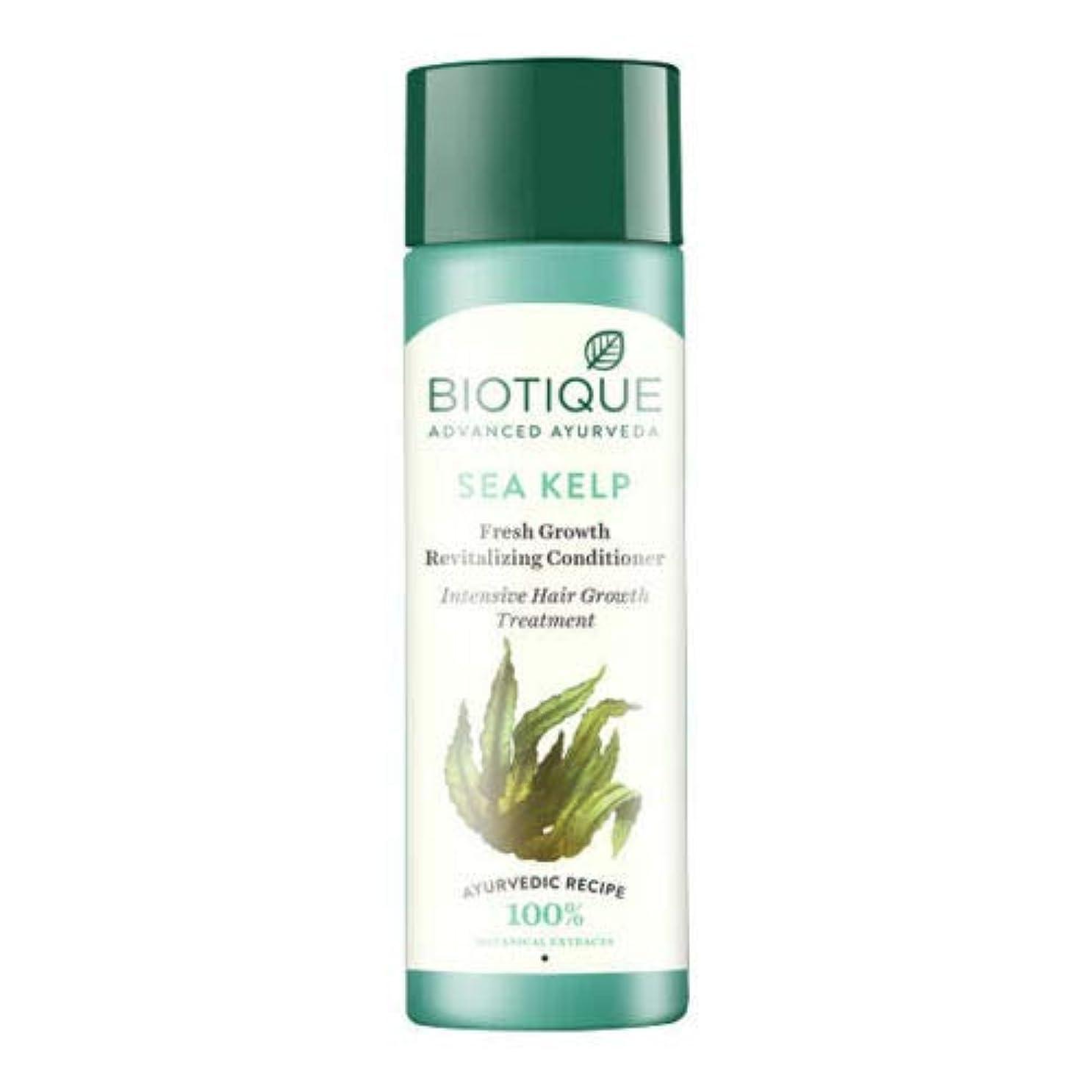 海柔らかい足考えたBiotique Bio Sea Kelp Fresh Growth Revitalizing Conditioner (120 ml) hair Growth Biotiqueバイオシーケルプフレッシュグロースリジュライジングコンディショナー育毛