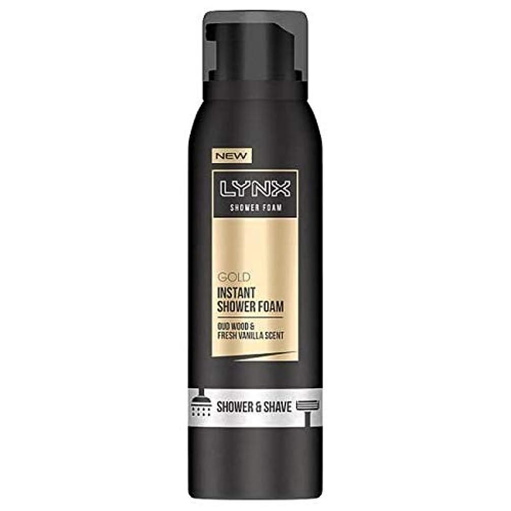 サイドボードリーチ蜂[Lynx ] オオヤマネコウードウッド&バニラの香りのシャワー&泡200ミリリットルを剃ります - Lynx Oud Wood & Vanilla Scent Shower & Shave Foam 200ml [並行輸入品]