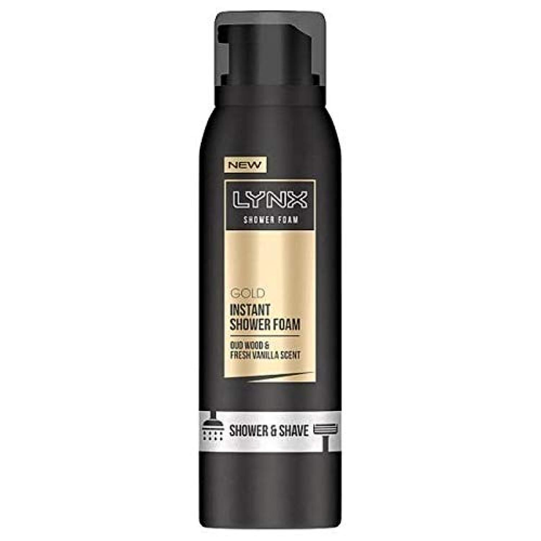 [Lynx ] オオヤマネコウードウッド&バニラの香りのシャワー&泡200ミリリットルを剃ります - Lynx Oud Wood & Vanilla Scent Shower & Shave Foam 200ml [並行輸入品]