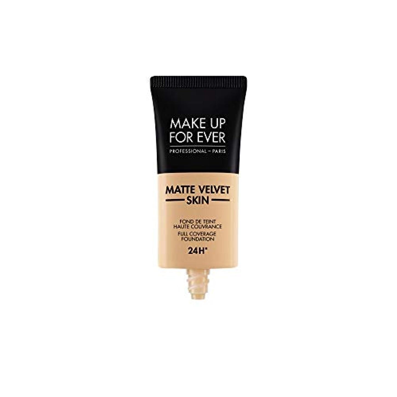 ボーナス苦情文句マニュアルMAKE UP FOR EVER Matte Velvet Skin Full Coverage Foundation (Y355 Neutral Beige)