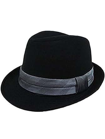 (エイト) 8(eight)シンプルなネクタイ生地中折れハット黒帽子 グレー