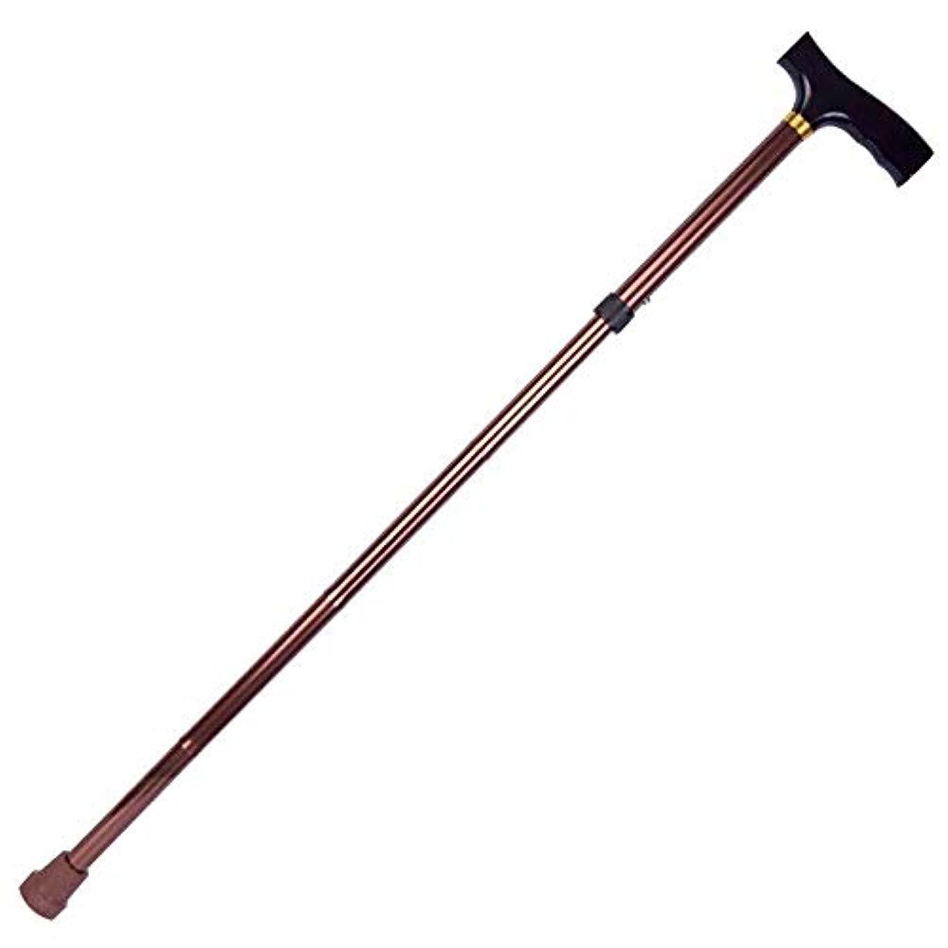 倒錯記事レポートを書く超軽量滑り止め折りたたみ式杖松葉杖、杖耐久性のある高さ調節可能なサポートと安定性安全補助バランス、高齢者のためのトレッキングポール杖障害のある女性屋外旅行ウォーキング (Color : Brown)