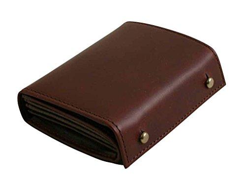 [エムピウ]m+ 折り財布 MF2p25 (tabacco×choco)