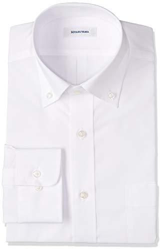[ハルヤマ] 42サイズ展開 形態安定加工 イージーケア長袖白ボタンダウンワイシャツ メンズ M151190002