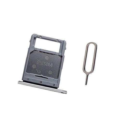 SIM + Microsdトレイスロットホルダーの交換用 Samsung Galaxy Tab S4 10.5 T835 T830 T837 銀