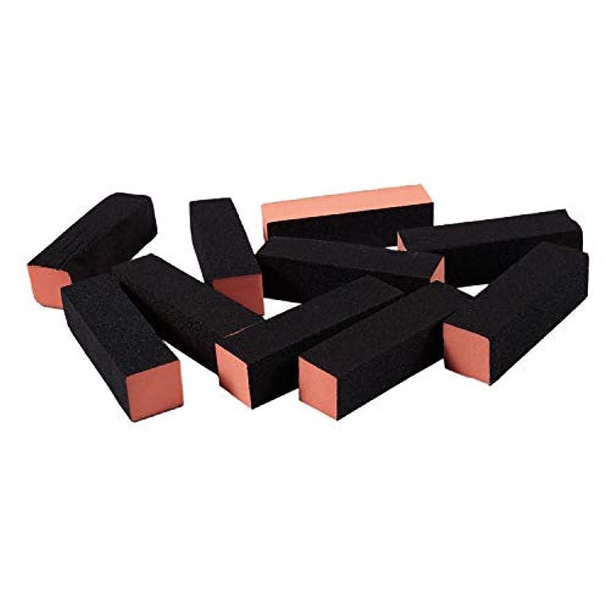 約代表してやるACAMPTAR 10×ブラックオレンジネイルポリッシャー4ウェイバッファバフブロックマニキュアファイル