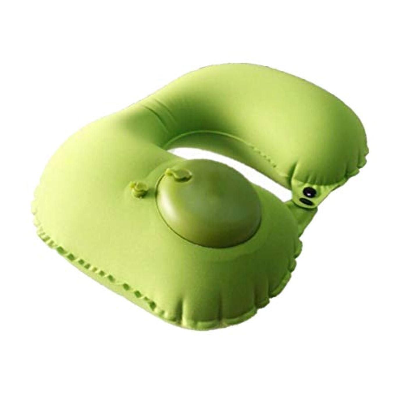 経済ページェント対角線トラベルピローネッククッション - コンパクトな360°コンフォート - トラベルバッグは車、飛行機、電車や家のために含まれています (Color : Green)