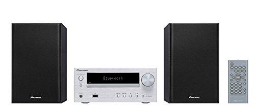 パイオニア Pioneer X-HM26 CDミニコンポ Bluetooth搭載/MP3/AM/FM対応 シルバー X-HM26(S) 【国内正規品】