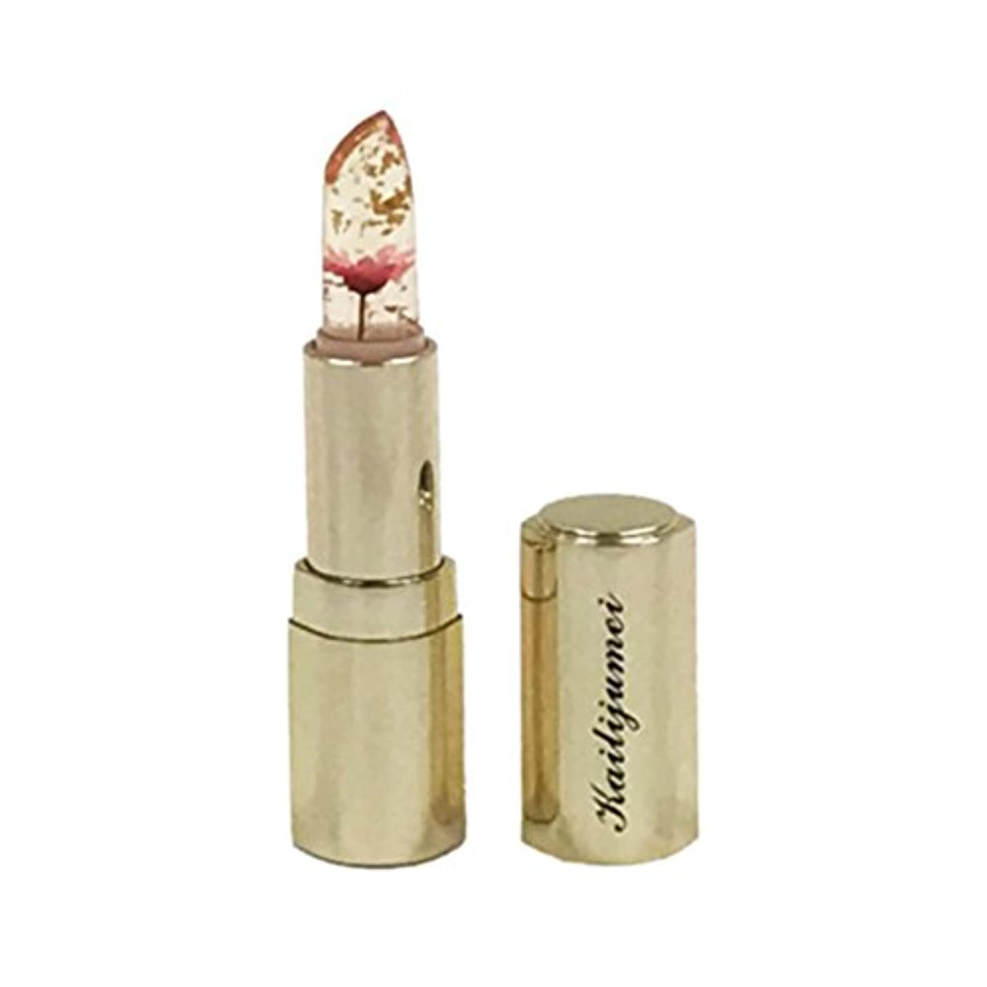 スクリュー豊富にオペレーターkailijumei カイリジュメイ 直接購入品 フラワーリップスティック 金粉入り Babie Doll Powder ピンク 02