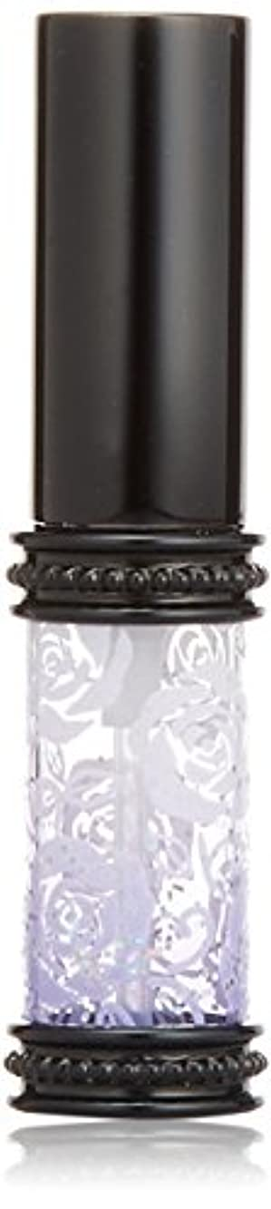 測定可能曲がった失効ヒロセアトマイザー ラメ 薔薇 ガラスアトマイザー 16121 PU (メタルラメバラ パープル)