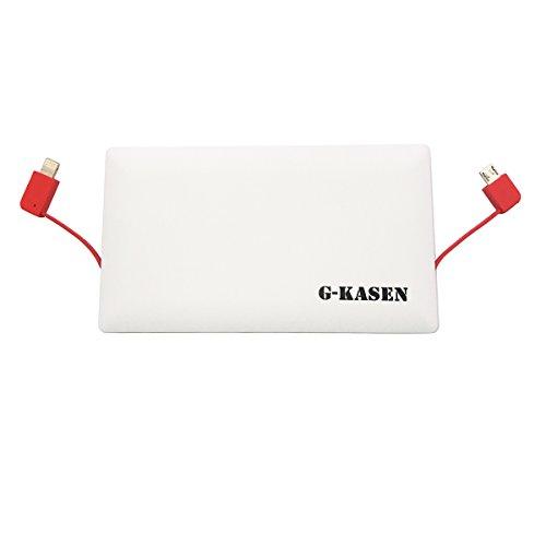 G-Kasen iPhone X / 8 / 8 Plus 10000mAh 最小最軽量 大容量 モバイルバッテリー 2USBポート薄型 軽量 急速USB充電器 LED デジタルスクリーン iPhoneX iPhone8 iPhone8 Plus , Note 8 , Sony Xperia XZ1 , iPad Pro 10.5 等 充電器