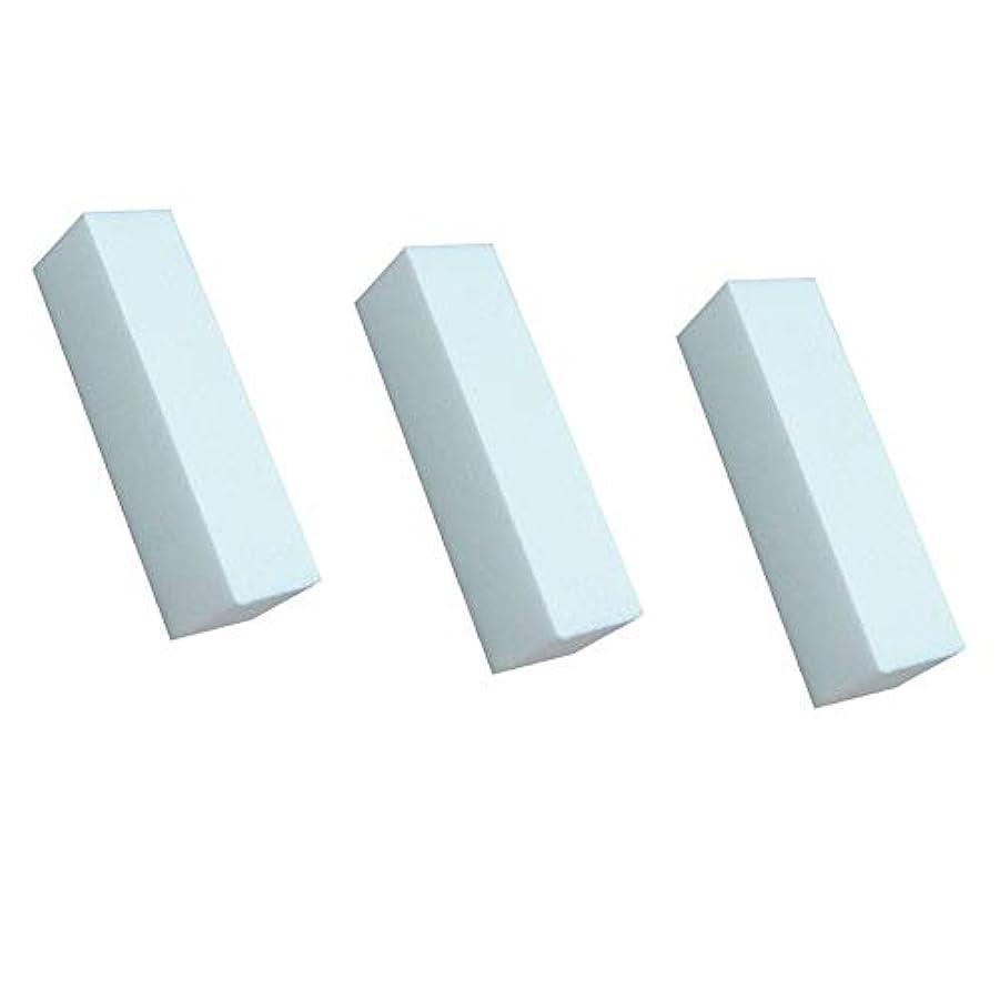 うっかり噛む急勾配の3白いマニキュアバッファ研磨工具研磨ファイルネイルファイルネイルケア美容シート