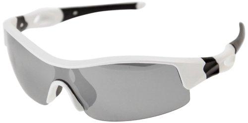 VAXPOT(バックスポット) サングラス 偏光レンズ WHITE【LENS:SILVER MIRROR】 EG-3990
