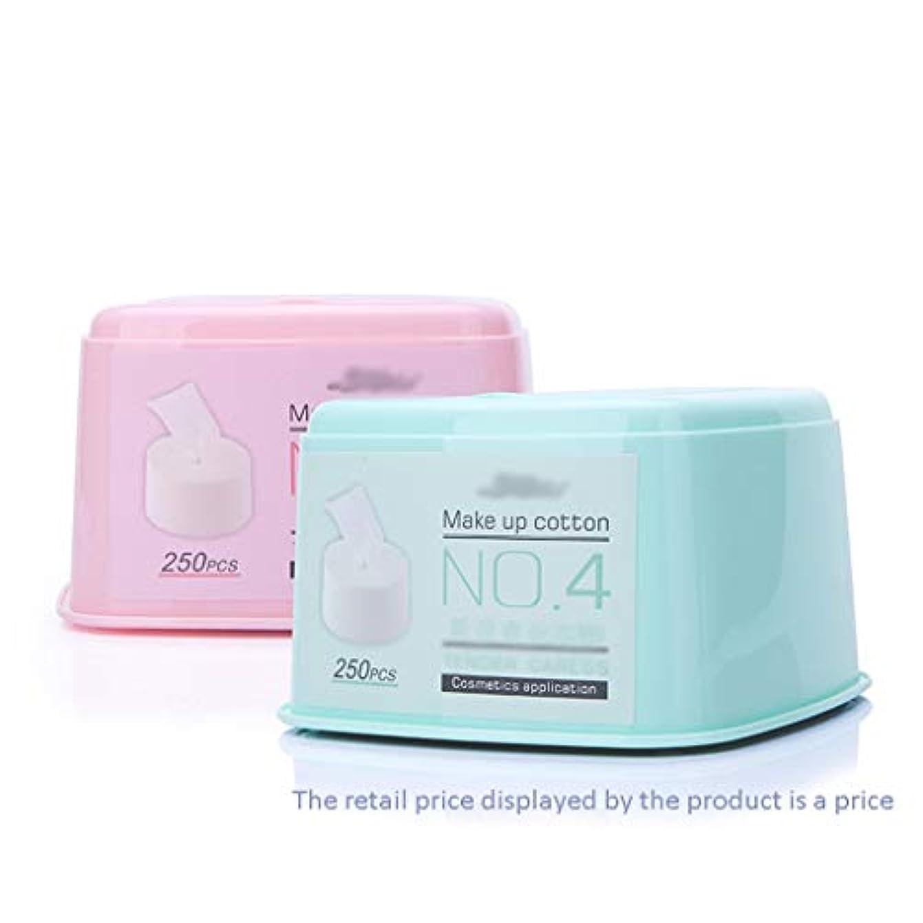 体細胞困難プロフェッショナルクレンジングシート 250ピース使い捨て高品質コットンパッドソフト削除きれいな顔クレンジングフェイシャルメイク削除パフマット (Color : Blue)