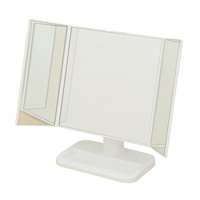 山善(YAMAZEN) 卓上三面鏡 ホワイト PM3-4326(WH)