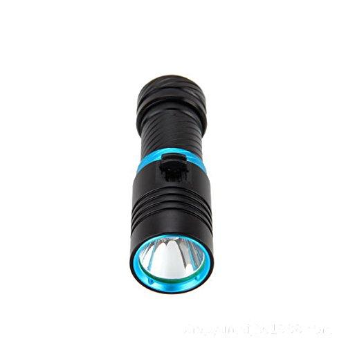 TRADE WING 最新 ダイビングライト CREE XML-L2 LED懐中電灯 100M水中 2500 18650電池付き