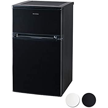 アイリスオーヤマ ノンフロン冷蔵庫 2ドア 81L ブラック NRSD-8A-B