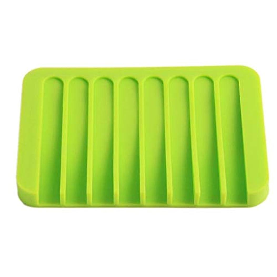 ファンブル束機構Onior プレミアム品質のシリコーン浴室柔軟な石鹸皿ソープホルダー収納ソープボックスプレートトレイ排水、グリーン