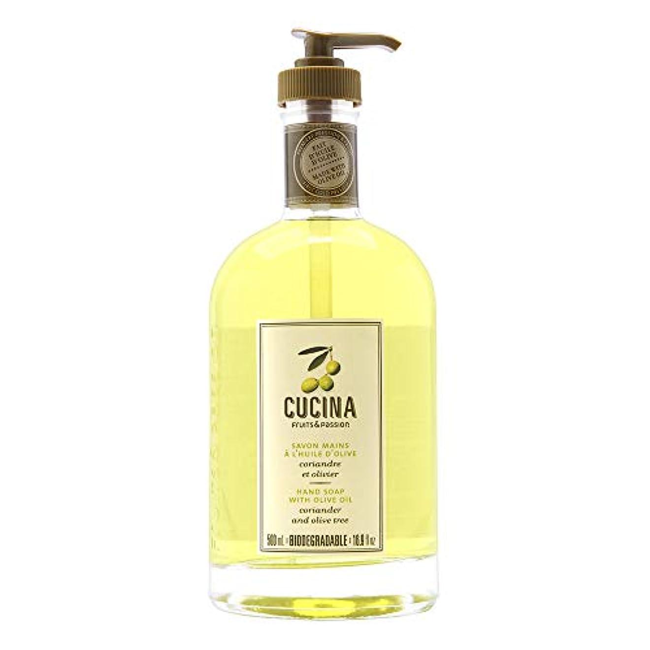 自発的不健全ホイールCucina Purifying Hand Soap, Glass Dispenser Lime Zest 16.9 oz. by Cucina