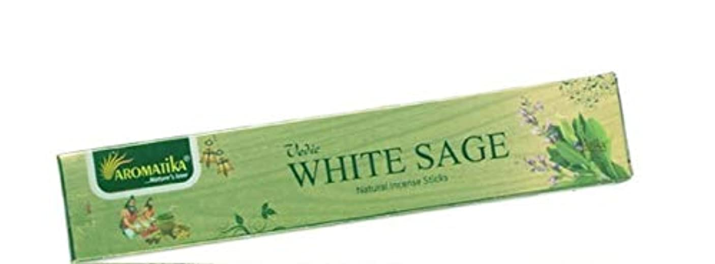aromatikaホワイトセージ15 gms Masala Incense Sticks Pack of 12