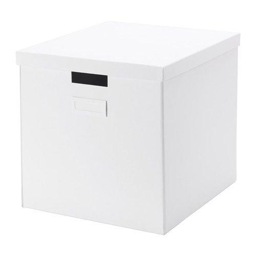 【IKEA/イケア】TJENA ふた付きボックス, ホワイト
