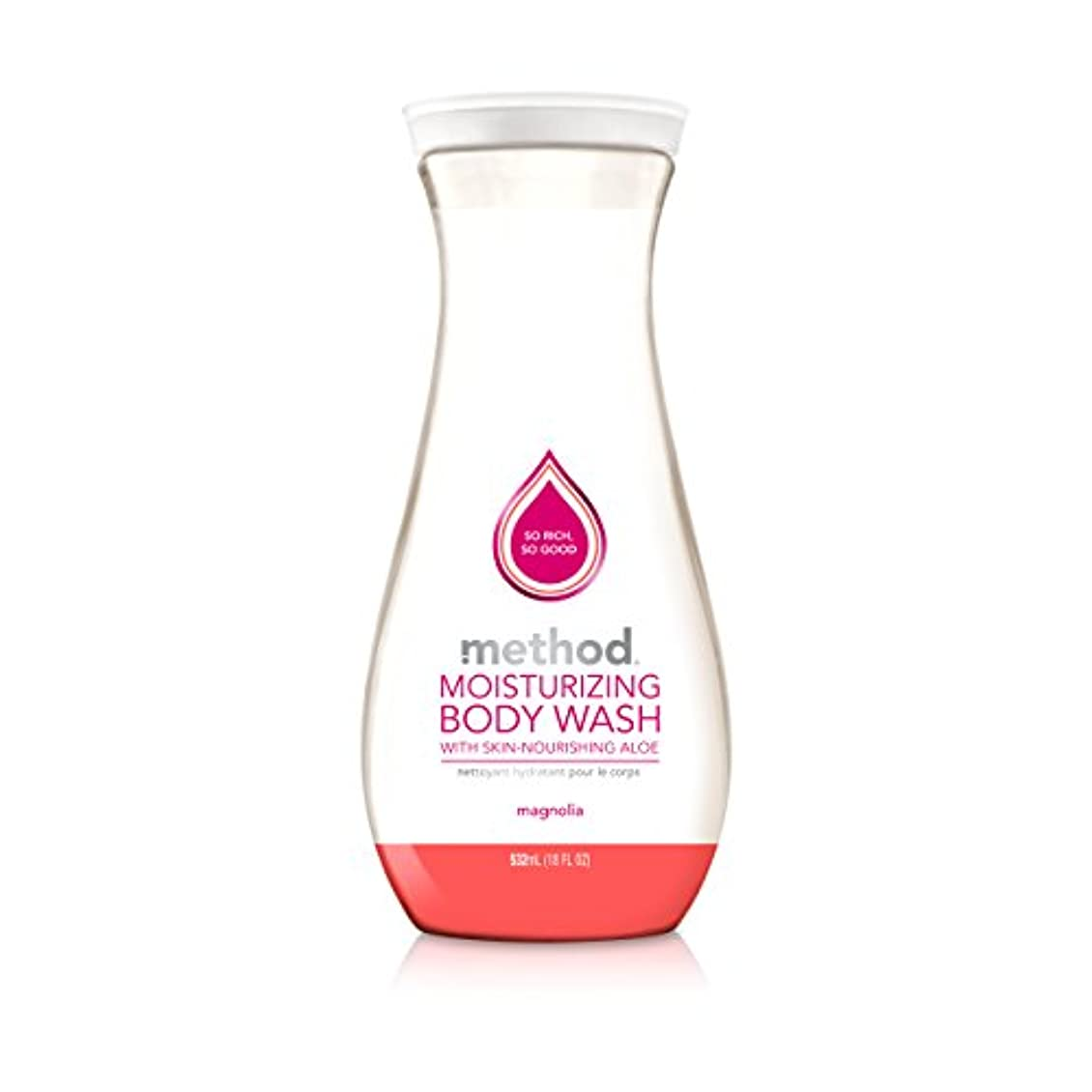 やりがいのあるビルマ不快Method, Pure Naked, Moisturizing Body Wash, Magnolia with Aloe Vera, 18 fl oz (532 ml)