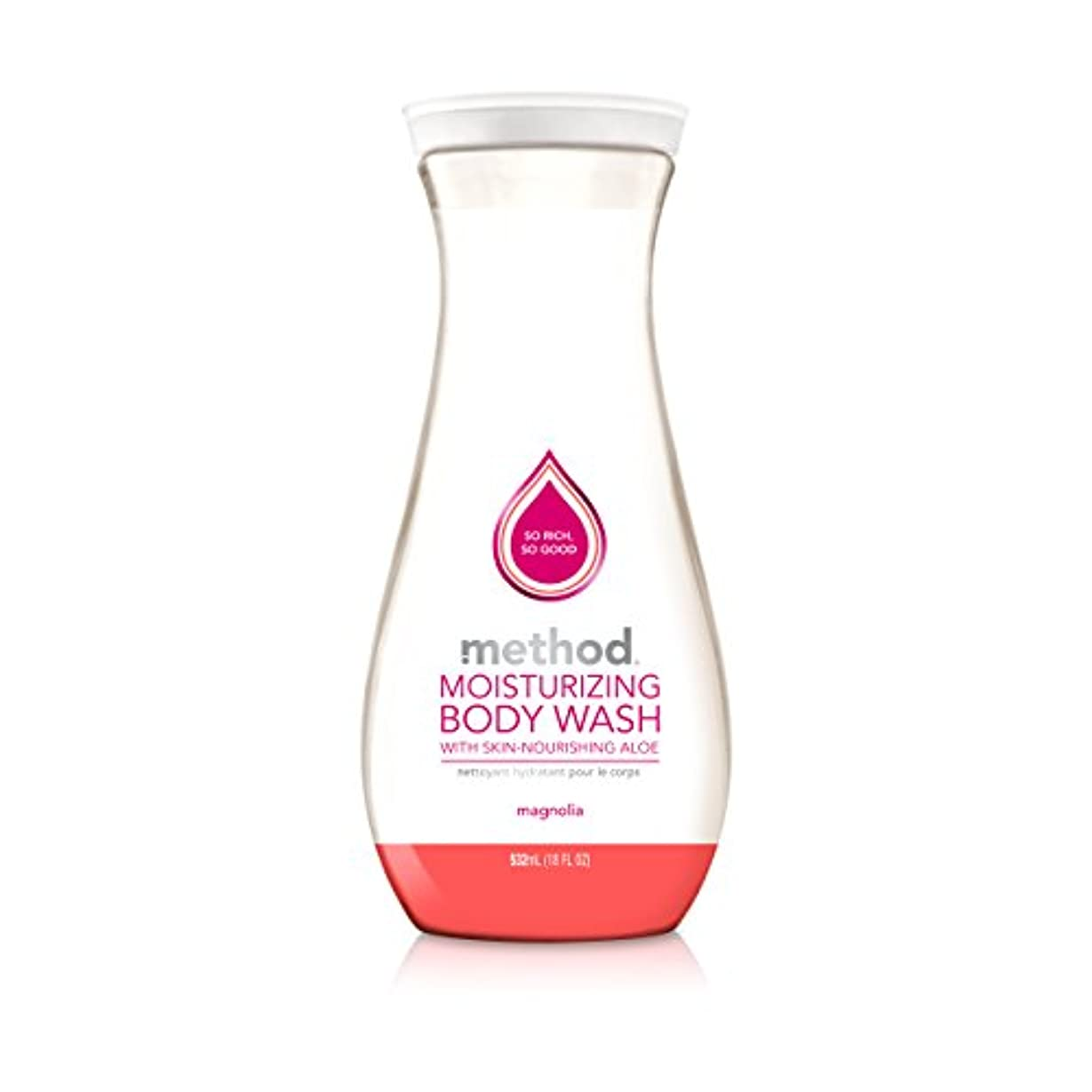 破壊ラリーベルモント農民Method, Pure Naked, Moisturizing Body Wash, Magnolia with Aloe Vera, 18 fl oz (532 ml)