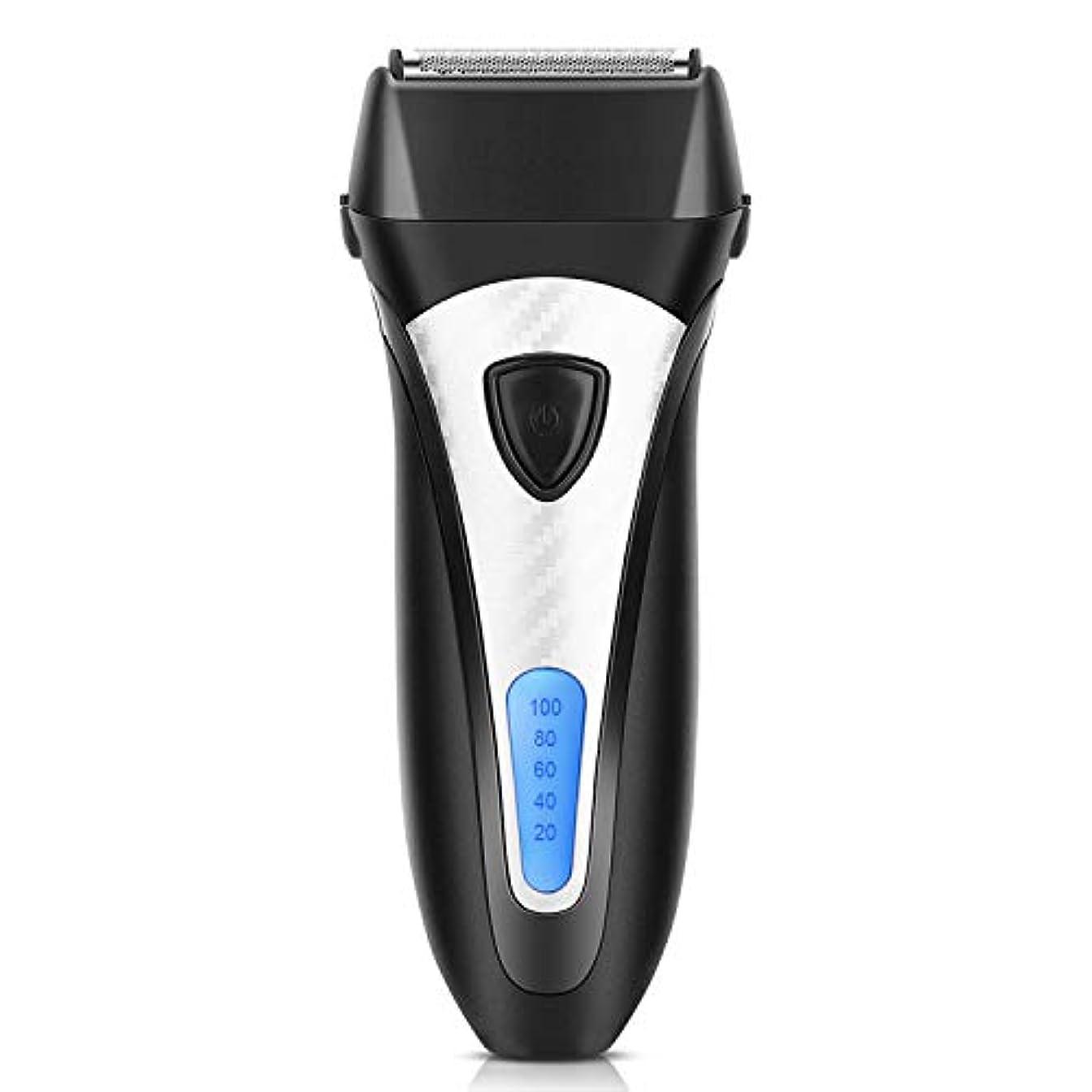ホイッスル申込み次ELEHOT 電気シェーバー メンズシェーバー 髭剃り 往復式 3枚刃 トリマー付き 充電式 LCDディスプレイ 男性用 水洗いできる刃ベット