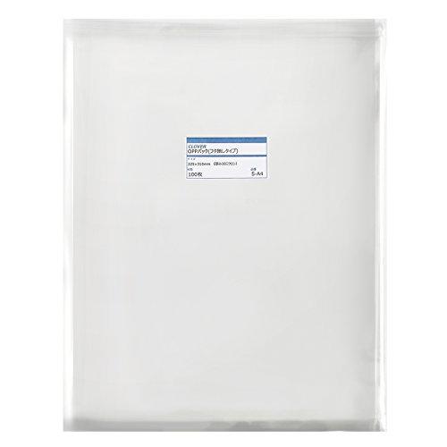 透明OPP袋(透明封筒)テープ無し 225×310mm ≪A4用紙/DM用≫ 30ミクロン 【100枚】