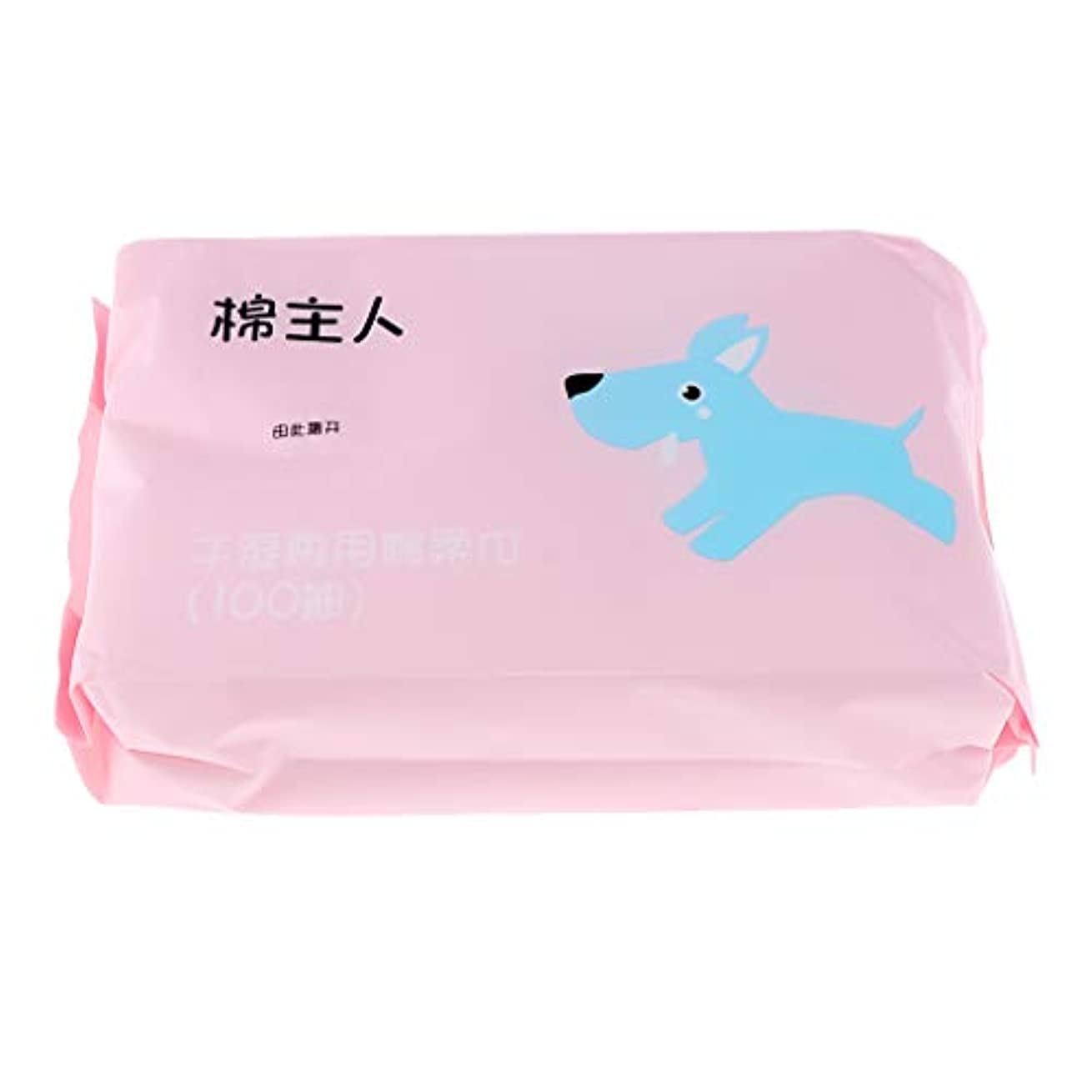 分岐する暗殺者辞書クレンジングシート メイク落とし 軽量 便利 敏感肌用 非刺激 不織布 フェイスタオル 約100枚 - ピンク
