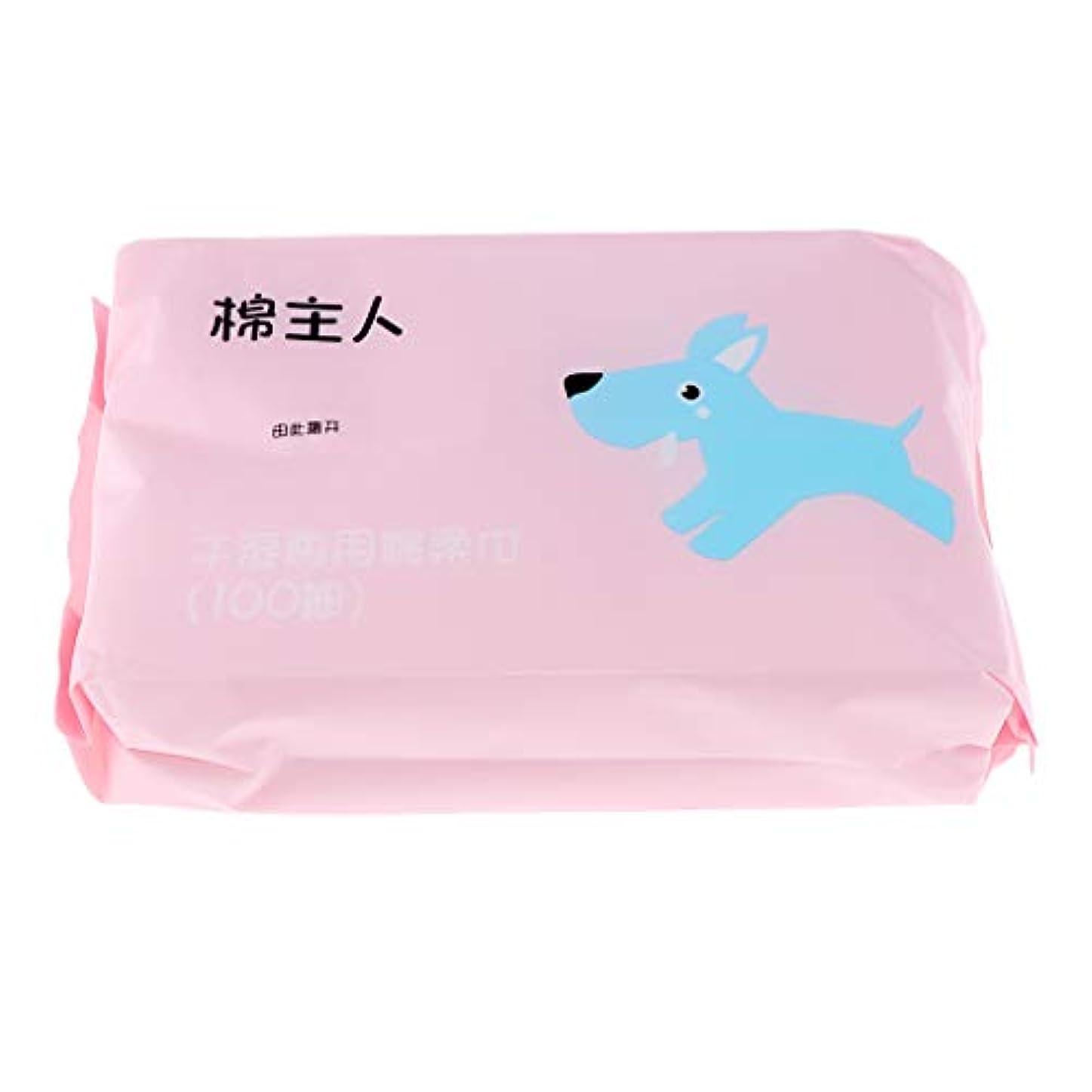 振る舞い治す怖がらせるクレンジングシート メイク落とし 軽量 便利 敏感肌用 非刺激 不織布 フェイスタオル 約100枚 - ピンク