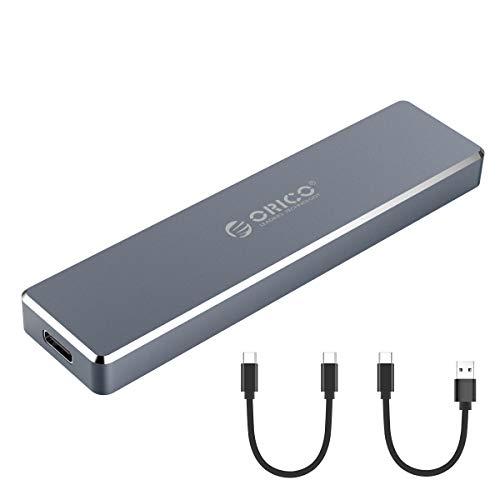 ORICO USB-C NVME M.2 SSDケース M-Key / B&M Key(Nvmeのみ)に対応 USB 3.1 Gen2 10Gbps 外付けケース UASPサポート Trim指令 2230/2242/2260/2280 SSD対応 M.2 SSD 変換アダプタ エンクロージャ ケース グレー PCM2-GY