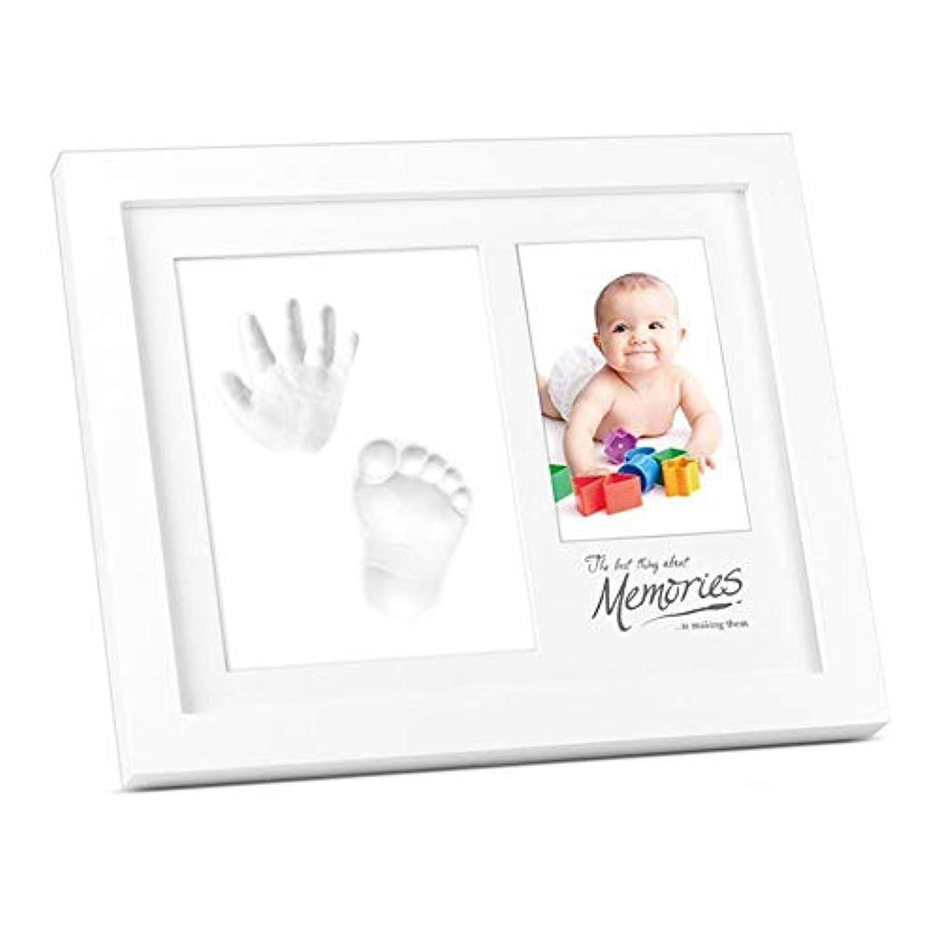 ギネスモードバルーンベビーハンドフットプリントキット Babyprints新生児の赤ちゃんの手形と足跡の壁Keepsakeフレームベビーシャワーのギフト ベビーデコレーションお土産セット