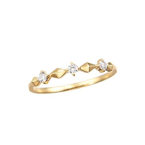 [ジュエリーツツミ]JEWELRY TSUTSUMI K18イエローゴールドダイヤモンドリング RFR880-001 7号