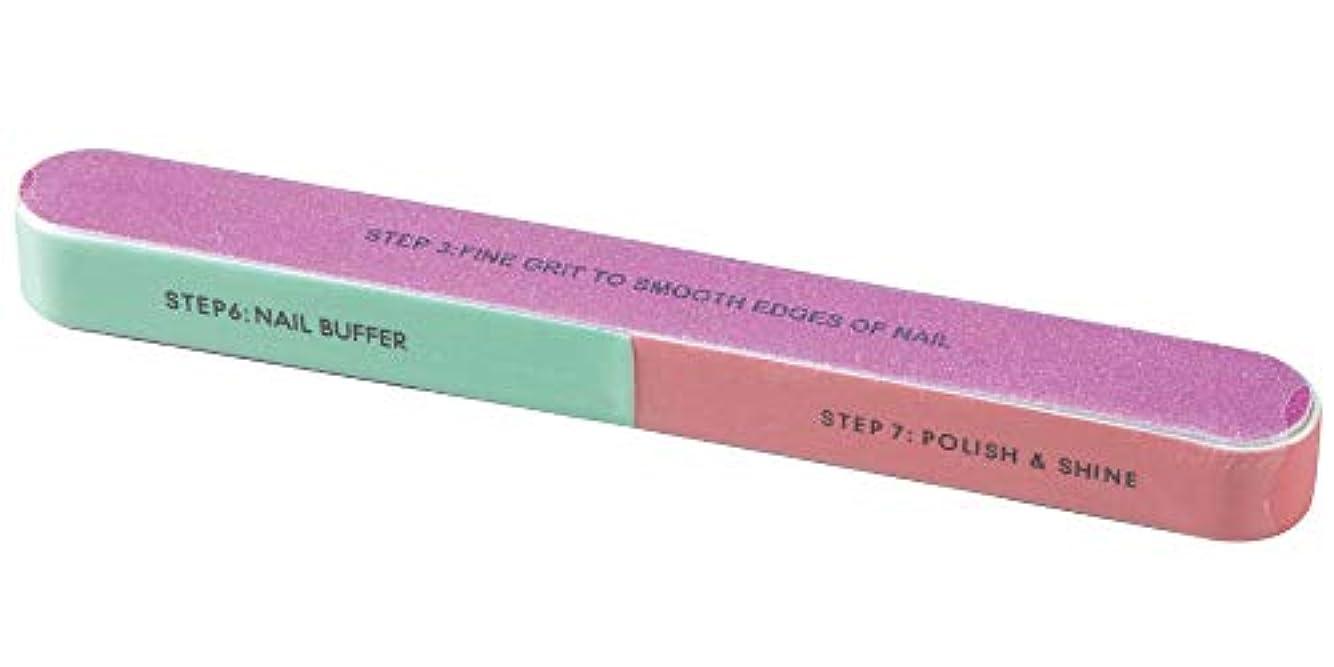 震え悔い改め元気なネイルポリッシャー 7ステップ 爪磨き/爪やすり/つめ削り/ネイルケアグッズ/スポンジ