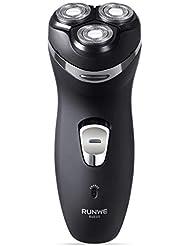 【最新型】 RUNWE Rs935メンズシェーバー電動ひげそり 3枚刃トリマー付き音が静か切れ味抜群 人気ブランド 出張?旅行?持ち運び便利 コストパフォーマンスが高い黒プレゼント·ギフトお薦め