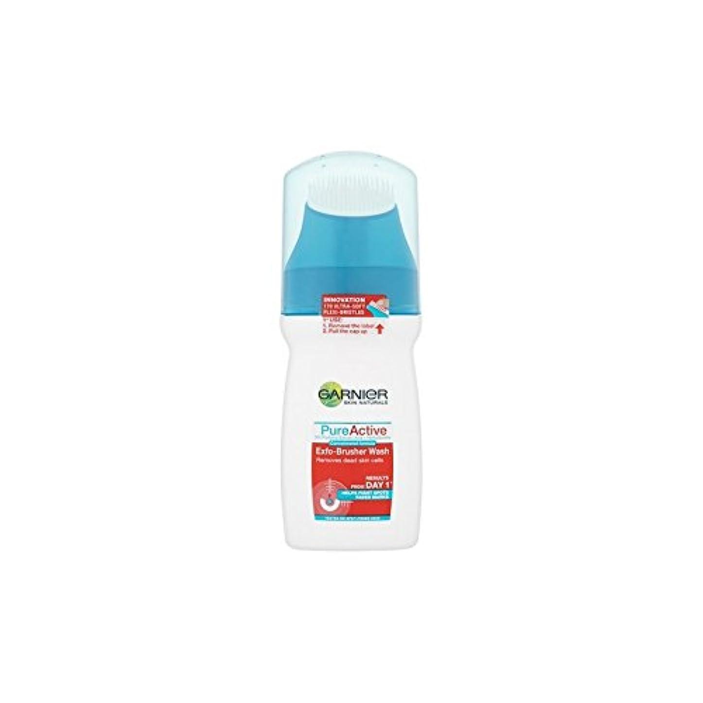 覆す一方、リルGarnier Pure Active Exfo-Brusher Face Wash (150ml) (Pack of 6) - ガルニエ純粋な活性-ブラッシャーの洗顔(150ミリリットル) x6 [並行輸入品]