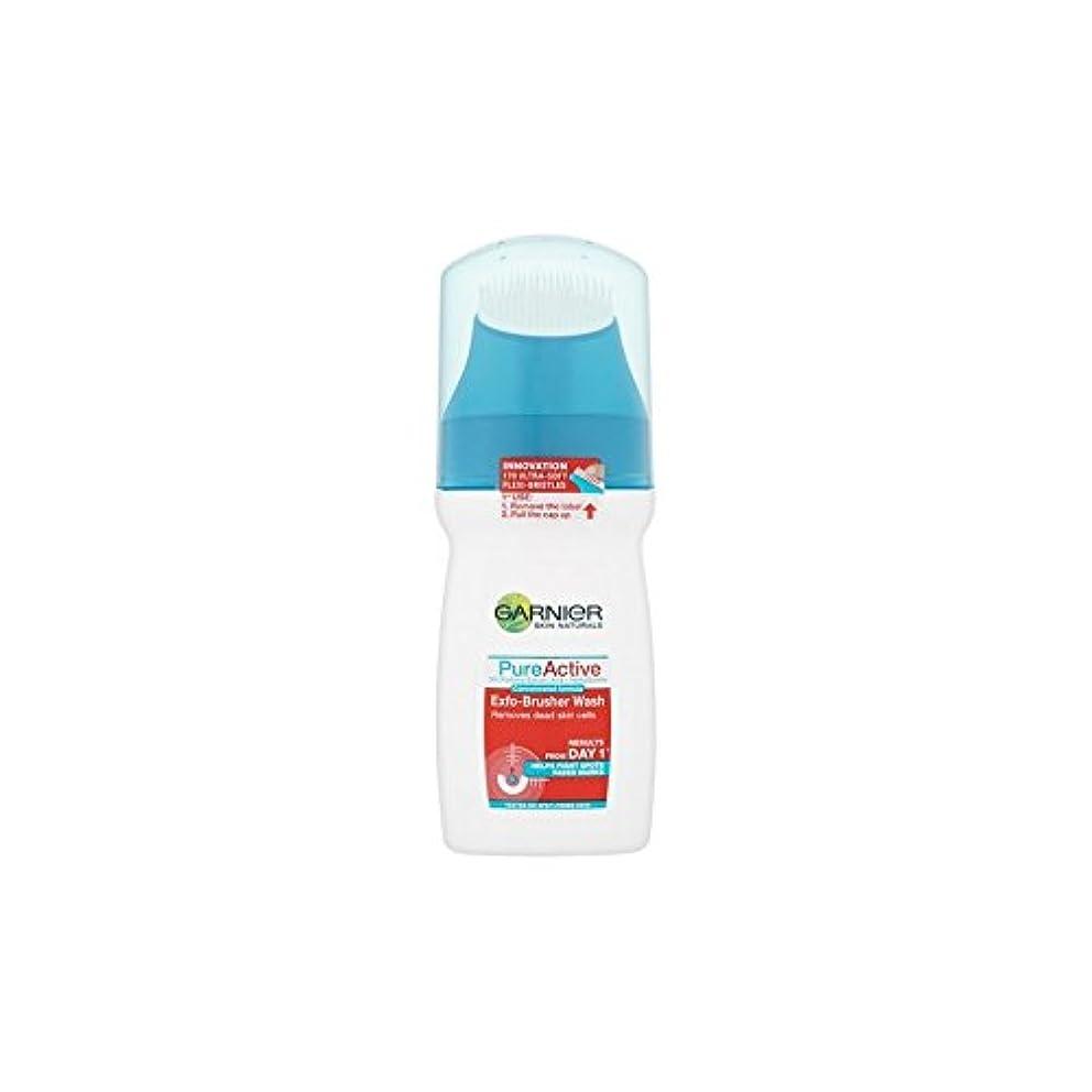 可動カウンターパートウェーハガルニエ純粋な活性-ブラッシャーの洗顔(150ミリリットル) x4 - Garnier Pure Active Exfo-Brusher Face Wash (150ml) (Pack of 4) [並行輸入品]