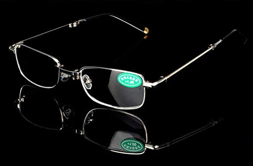 ショート統合階FidgetGear 老眼鏡金属折りたたみ眼鏡リーダー眼鏡+1.0 1.5 2.0 2.5?+4.0 銀