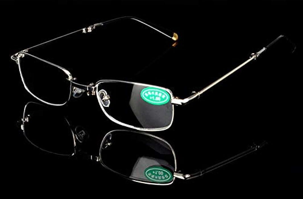 FidgetGear 老眼鏡金属折りたたみ眼鏡リーダー眼鏡+1.0 1.5 2.0 2.5?+4.0 銀