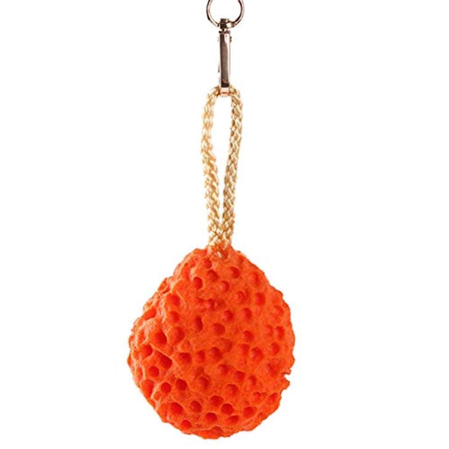 静脈減るアレルギーIdiytip ボディウォッシュボール スポンジ浴室 ファイン 泡立てネット ボディ洗い 泡ボール スポンジシャワーボール(オレンジ色)